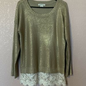 Gold and Lace Sweater